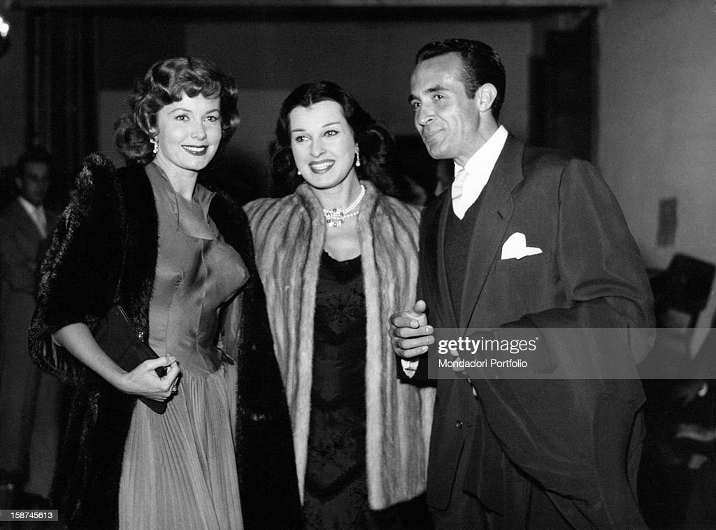Italian actress Silvana Pampanini, American actress Rondha Fleming (Marilyn  Louis) and Mexican actor