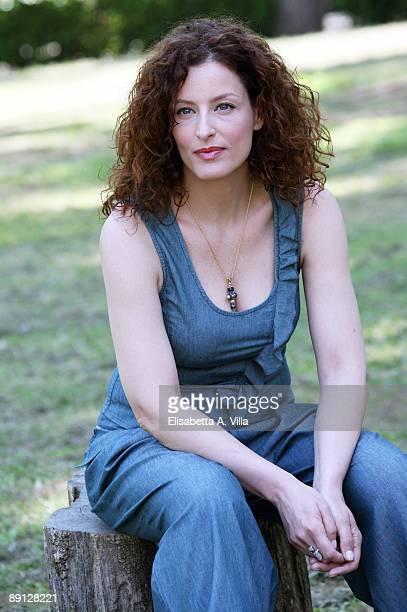 Italian actress Simona Borioni attends a photo call promoting Italian TV Film 'Mogli A Pezzi held at Casa del Cinema on May 7 2008 in Rome Italy