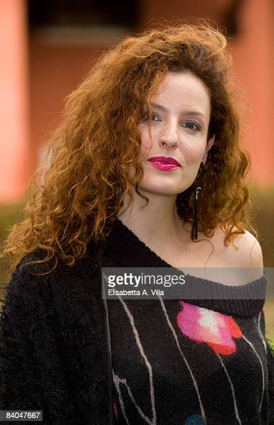 Italian actress Simona Borioni attends the Doctor Clown photocall on December 15 2008 in Rome Italy