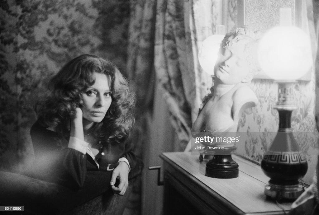 Italian actress Sophia Loren, 1977.