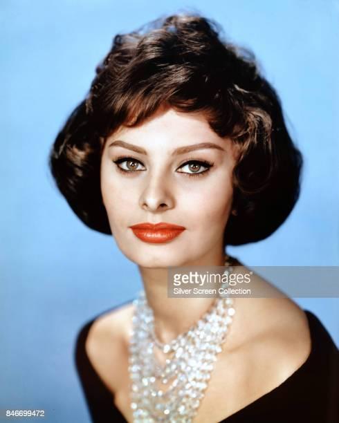 Italian actress Sophia Loren circa 1955