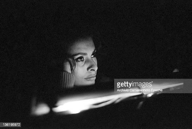 Italian actress Sophia Loren during 'El Cid' dubbing Rome 1961