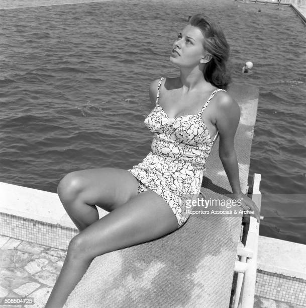 Italian actress Sophia Loren in the film 'Africa Under the Sea' 1953
