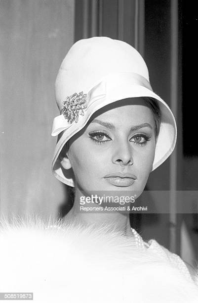 Italian actress Sophia Loren poses during the filming of 'The Millionairess ' 1960