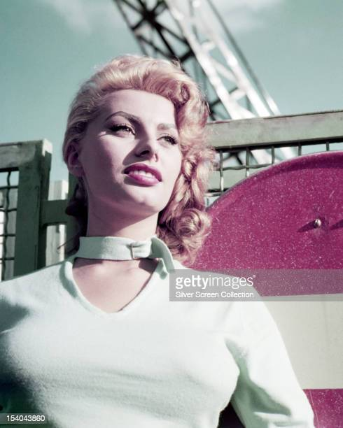 Italian actress Sophia Loren with blonde hair circa 1954