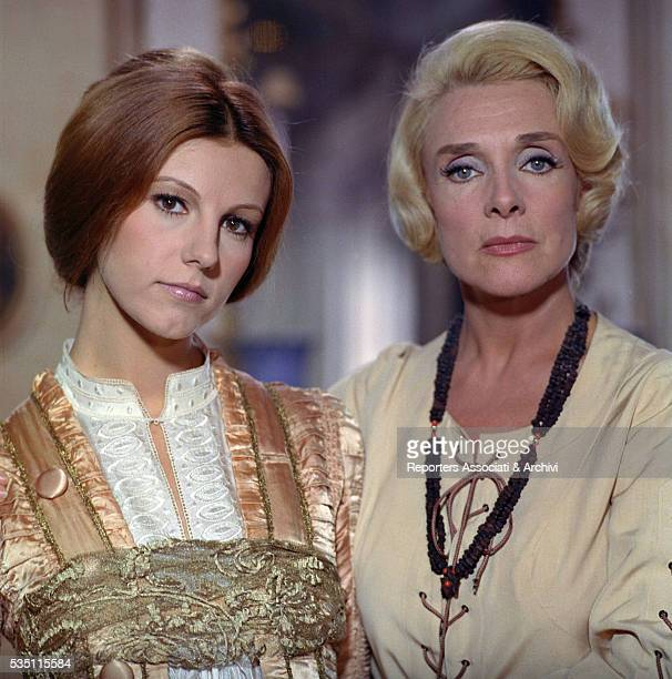 Italian actress Stefania Sandrelli and French actress Micheline Presle in the film Devil in the Brain 1972