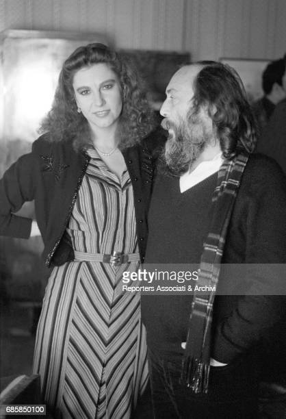 Italian actress Stefania Sandrelli talking to Italian director Aldo Lado on the set of Disobedience 1981