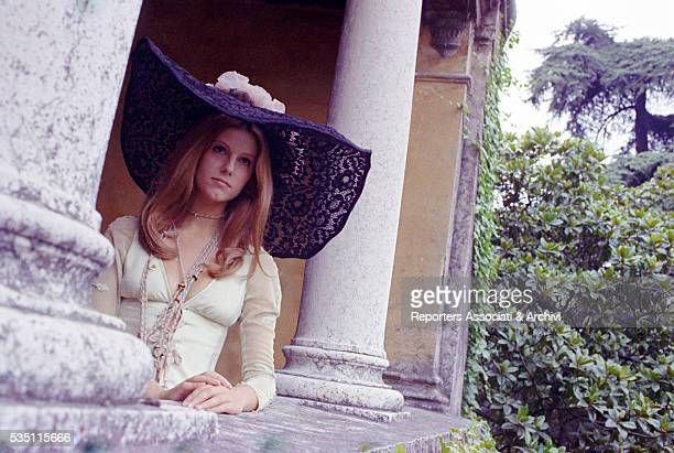 Italian actress Stefania Sandrelli wearing a widebrimmed hat in the film Devil in the Brain 1972