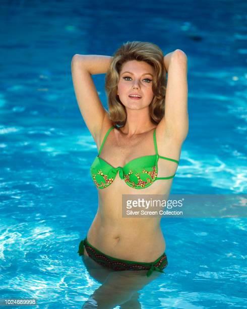 Italian actress Sylva Koscina in a swimming pool, circa 1960.