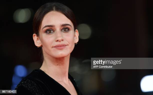 Italian actress Valentina Belle arrives for the premiere of the film 'Una questione Privata' at the 12th Rome Film Festival on October 27 2017 in...