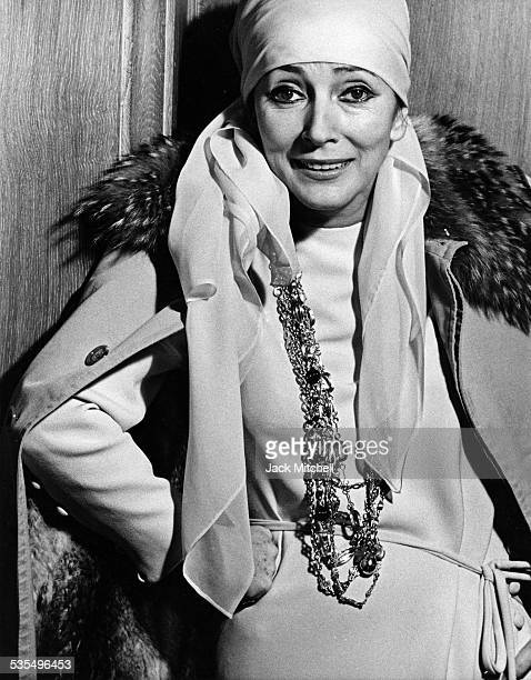 Italian actress Valentina Cortese in 1974