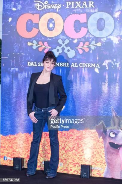 Italian actress Valentina Lodovini during photocall in Rome at Hotel De Russie of Disney Pixar Coco movie
