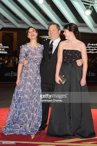 Italian Actress Valeria Bilello Harvey Winstein and Alexandra Roach attend the 'One Chance' Premiere during the13th Marrakech International Film...