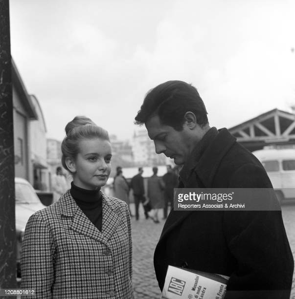 "Italian actress Valeria Ciangottini and Italian actor Marcello Mastroianni in the film ""Family Diary"" directed by Italian director Valerio Zurlini...."