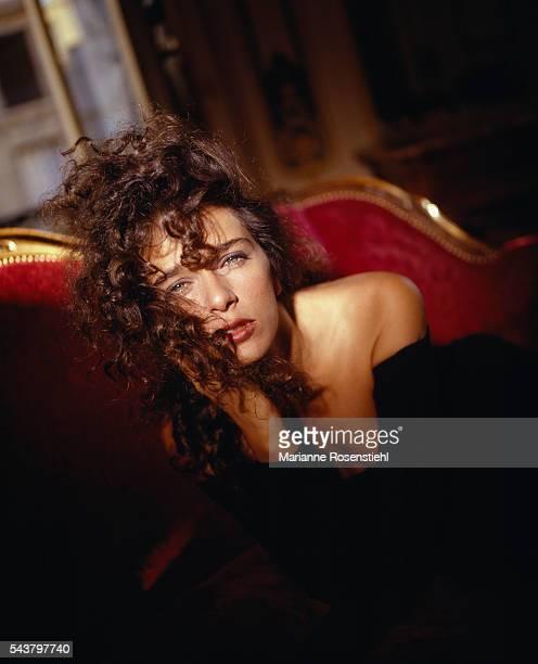 Italian actress Valeria Golino at the Raphael Hotel in Paris.