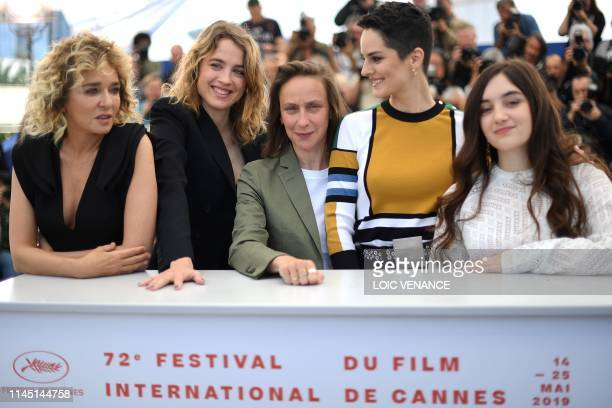 Italian actress Valeria Golino French actress Adele Haenel French director Celine Sciamma French actress Noemie Merlant and French actress Luana...