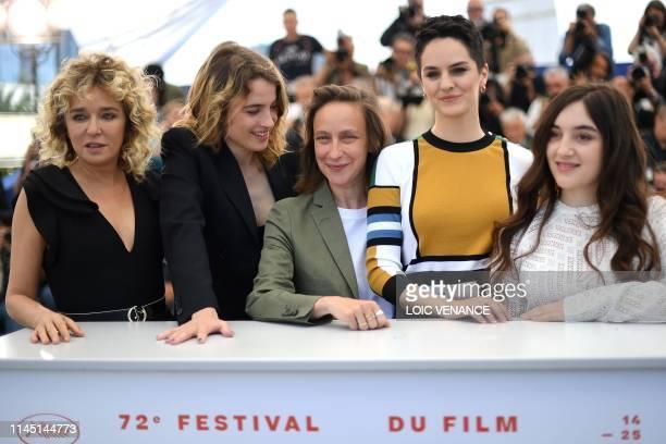 Italian actress Valeria Golino French actress Adele Haenel French director Celine Sciamma French actress Noemie Merlant and French actress Luana...
