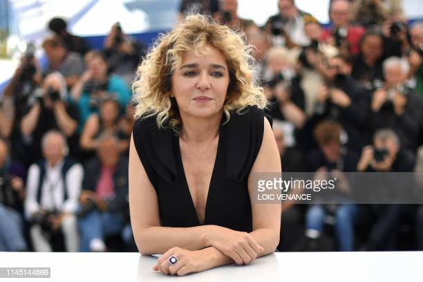 Italian actress Valeria Golino poses during a photocall for the film Portrait Of A Lady On Fire at the 72nd edition of the Cannes Film Festival in...