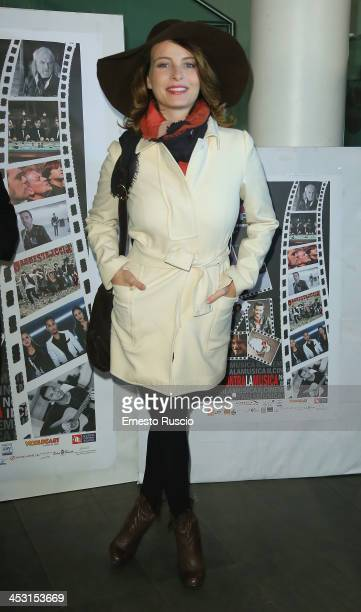 Italian actress Violante Placido attends the Roma Videoclip Awards 2013 at Nuovo Cinema Aquila on December 2 2013 in Rome Italy