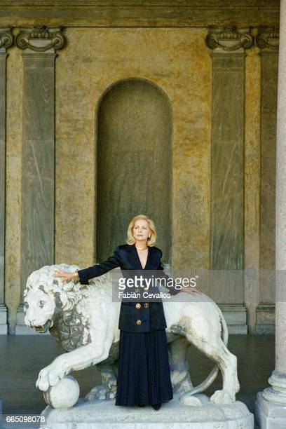 Italian actress Virna Lisi at Hotel Hassler in Rome