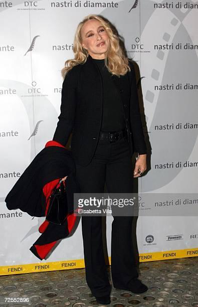 Italian actress/director Eleonora Giorgi arrives to the Fendi party 'Nastri di Diamante' at the Palazzo Fendi on November14 2006 in Rome Italy