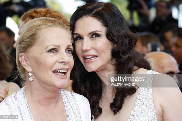Italian actresses Allessandra Martines and Virna Lisi arrive to pay honor to Italian director Michelangelo Antonioni, prior the screening of the...