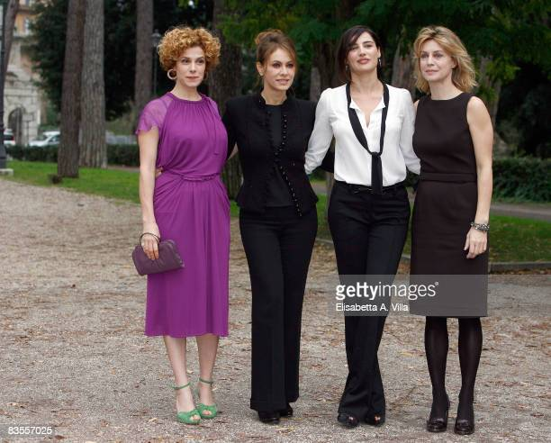 Italian actresses Cecilia Dazzi Elena Sofia Ricci Luisa Ranieri and Margherita Buy attend a photocall promoting new Italian television serie Amiche...