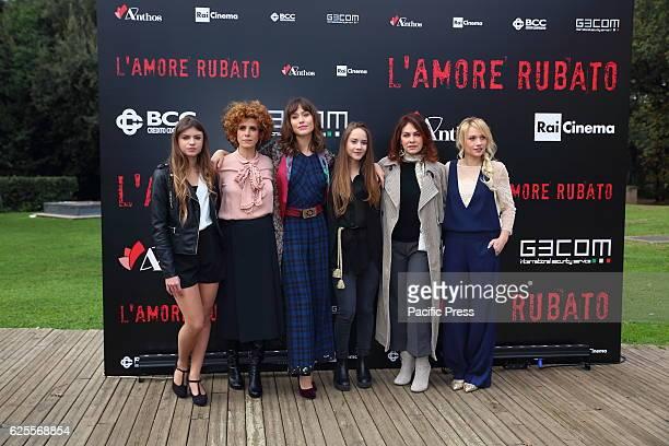 Italian actresses Elisa De Fabrizio, Cecilia Dazzi, Gabriella Pession, Elisabetta Mirra, Elena Sofia Ricci, Chiara Mastalli during photocall of film...