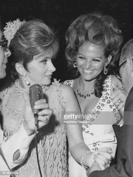Italian actresses Gina Lollobrigida and Claudia Cardinale at the Venice Ball at the Palazzo Vendramin Calergi in Venice Italy 11th September 1967