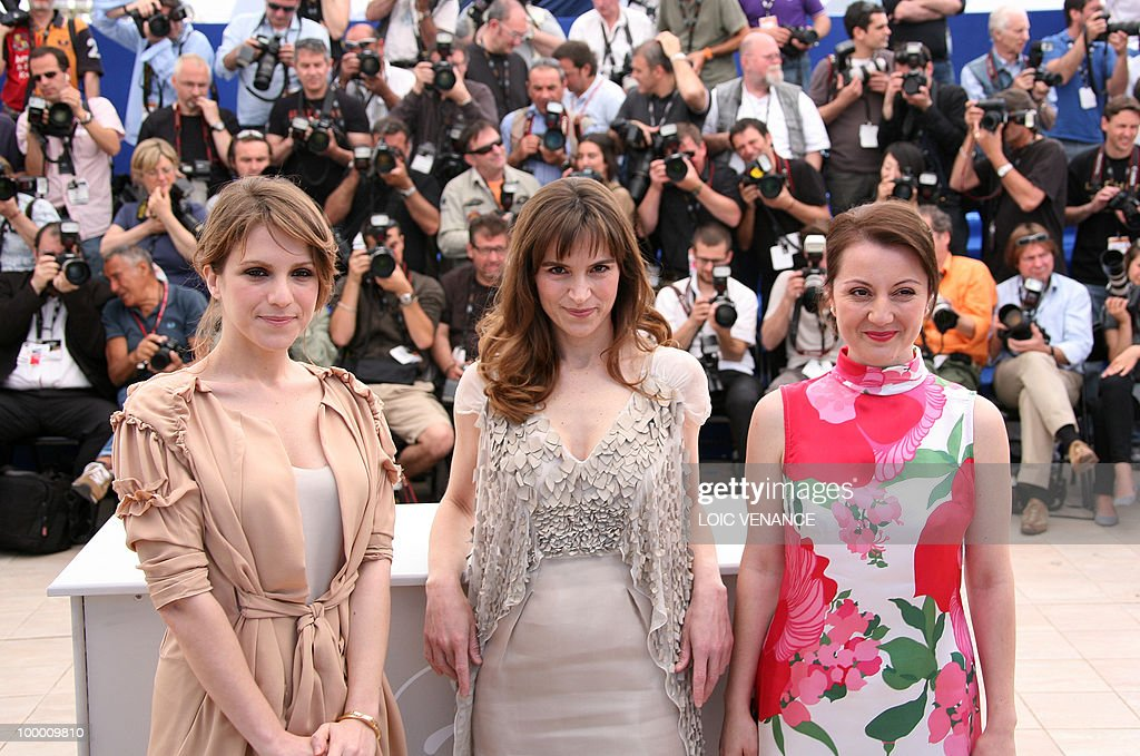 Italian actresses Isabella Ragonese (L), Stefania Montorsi and Alina Berzenteanu (R) pose during the photocall of 'La Nostra Vita' (Our Life) presented in competition at the 63rd Cannes Film Festival on May 20, 2010 in Cannes.