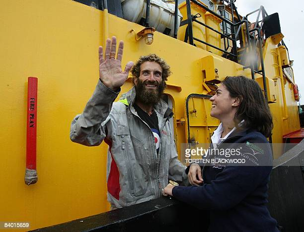 Italian adventurer Alex Bellini , who spent the past 10 months rowing solo across the Pacific Ocean from Peru, is reunited with his wife Francesca in...