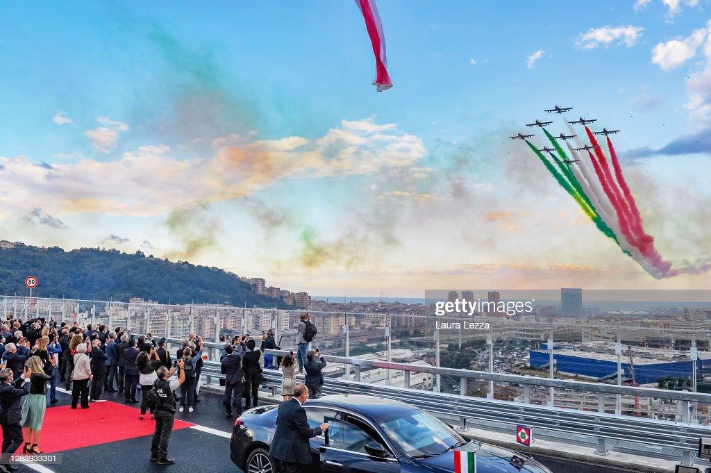 Genova San Giorgio Bridge Inauguration : Foto di attualità
