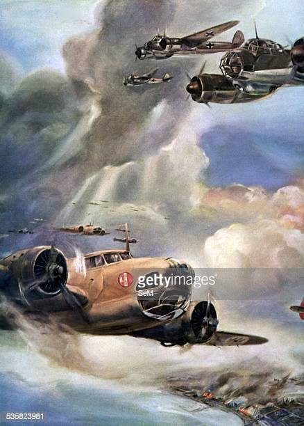 Italian Air Force Regia aeronautica at the Battle of Britain in a propaganda illustration Air battle for England is the name given to the Second...
