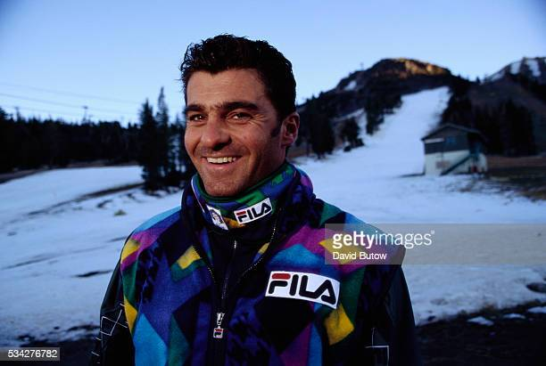 Italian Alpine Skier Alberto Tomba at Mammoth Mountain