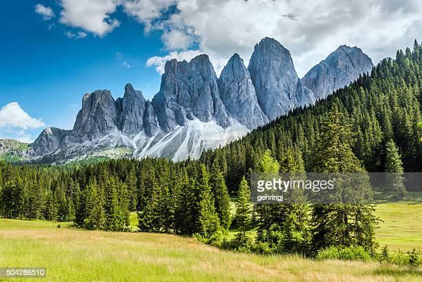 Alpi italiane in Funès walley, Dolomiti