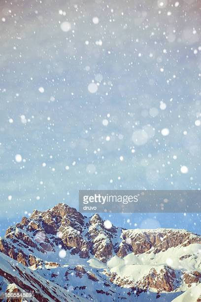 Alpi italiane sulla neve