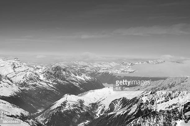 italian alps - aiguille de midi stock photos and pictures