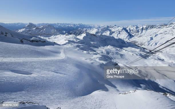 italian alps seen from cervinia. - monte bianco foto e immagini stock