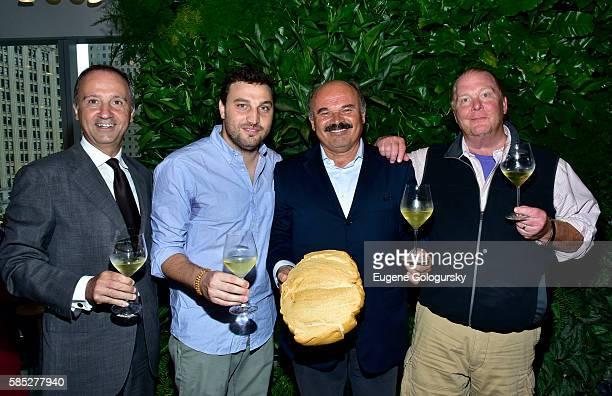 Italian Ambassador Armando Varricchio, Nicola Farinetti, Oscar Farinetti, and Mario Batali attend the Eataly Downtown NY Ribbon Cutting on August 2,...