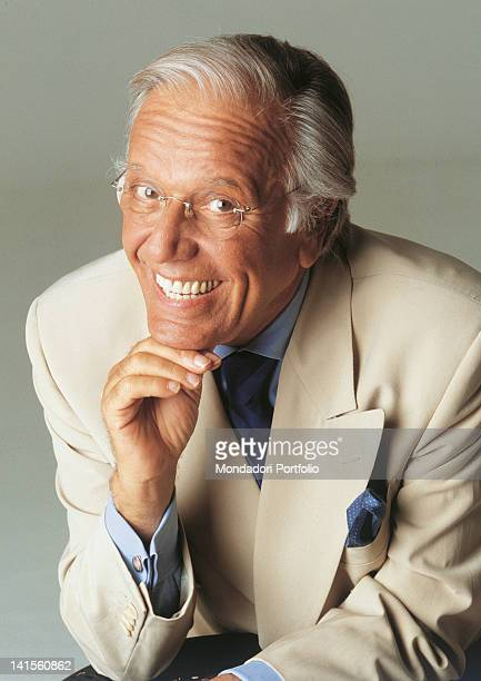 Italian anchorman and columnist Gianfranco Funari smiling 2000