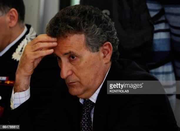 Italian anti Mafia prosecutor Franco Roberti