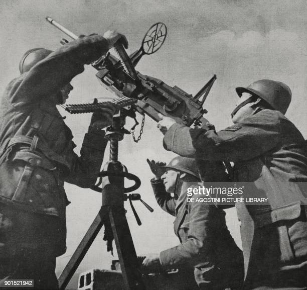 Italian antiaircraft station manned by the Volunteer Militia for National Security on an island in the Mediterranean World War II from...