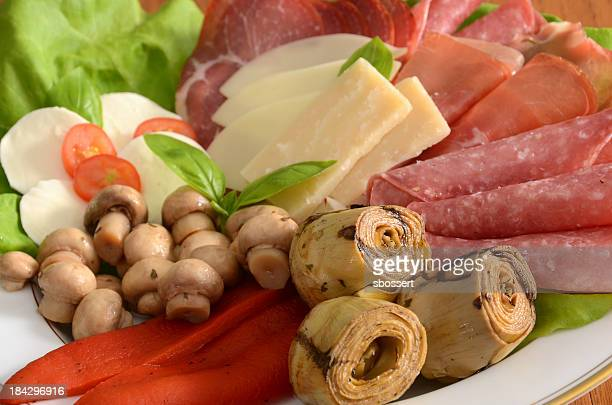 italian antipasto platter - antipasto stock pictures, royalty-free photos & images