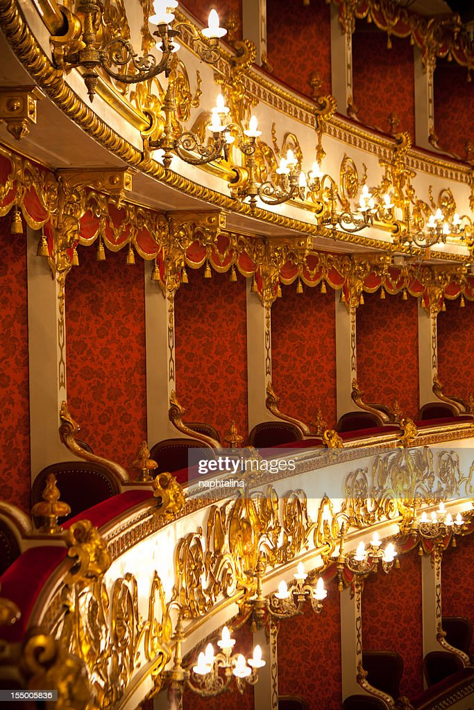Italian antique theater : Stock Photo