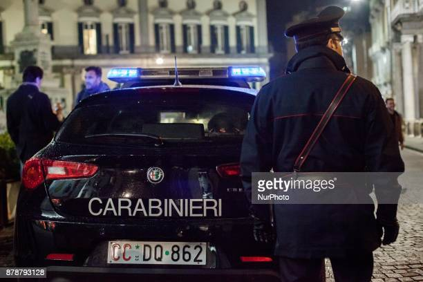 Italian Armed Forces and Carabinieri are involved in the fight against organised crime and drug trafficking in San Pasquale A Chiaia area of the...