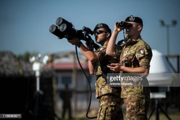 Italian Army soldiers take part in a military training at an exercise camp in Cecchignola on July 18 2019 in Rome Italy Around 1400 soldiers of the...