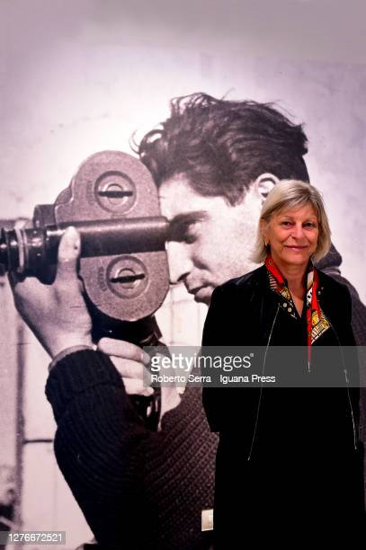 """Italian art historian Enrica Pagella Director and Curator of the Turin's Royal Museums attends the American photographer Robert Capa """"Capa in Color""""..."""