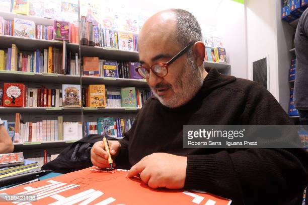 "Italian artist and graphic novelist Giuseppe Palumbo unveils his latest book ""The Border"" with co-authors screenwriters Mauro Uzzeo and Giovanni Masi..."