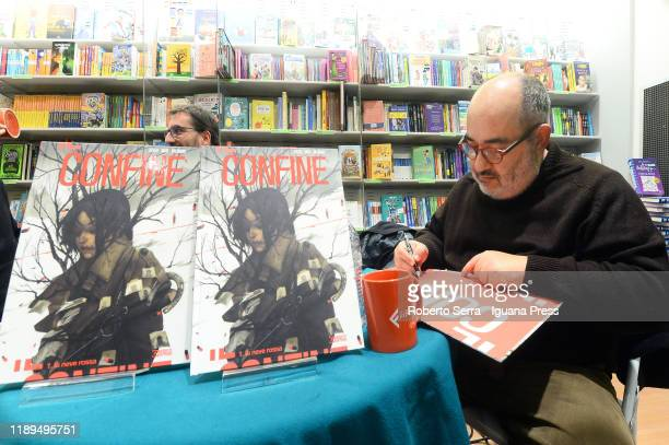 Italian artist and graphic novelist Giuseppe Palumbo unveils his latest book The Border with coauthors screenwriters Mauro Uzzeo and Giovanni Masi at...