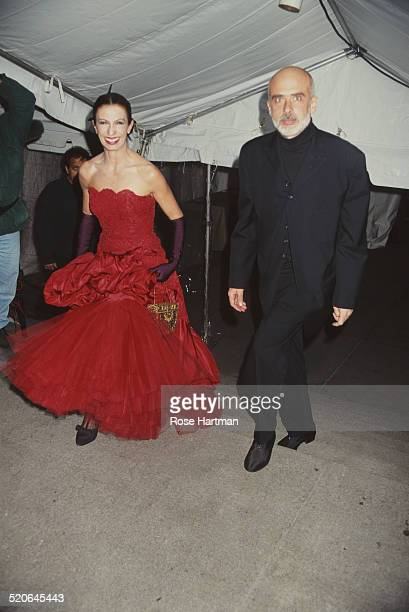 Italian artist Francesco Clemente and his wife, Alba, attend the Met Costume Institute Benefit Gala, New York City, USA, 1994.